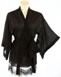 Love Me Kimono schwarz von Shell Belle Couture