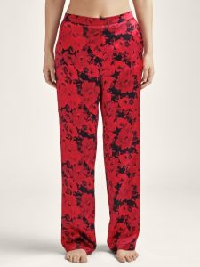 Seide Hose Toi Mon Amour rot-schwarz Blumenmuster von Aubade