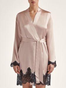 Seide Kimono Toi Mon Amour altrosa-schwarz von Aubade