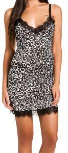 Seide-Modal Nachthemd Macau schwarz-weiß von Gattina