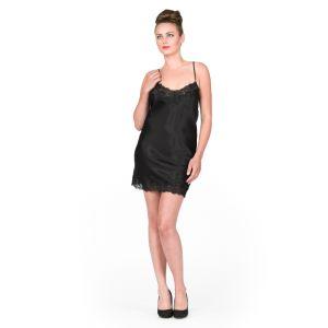 Seidennachthemd Sakhali schwarz von Gattina
