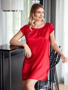 Nachtkleid aus Stretchseide Seduzione di Seta in leuchtend rot von Gattina