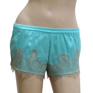 Stretchseide Shorts Desiderio Aqua von Gattina