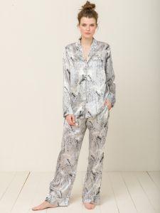 100% Seide Schlafanzug Elisabetha in Japanese Garden von Radice