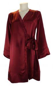 Seidenrobe Shell Wrap Robe Dahlia von Shell Belle Couture