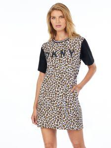 Viscose Sleepshirt Leaving our Mark Animal Print von DKNY Sleepwear