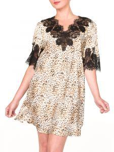 Seiden-Sleepshirt St. Elm leopard-schwarz von Gattina