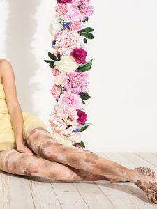 Feinstrumpfhose mit Blumen-Muster Waterlily von Trasparenze