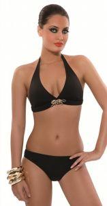 Triangel-Bikini schwarz mit leicht gepolsterten Cups von Rebecca Bademode