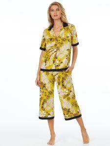 Viscose Schlafanzug gelb beige von DKNY Sleepwear