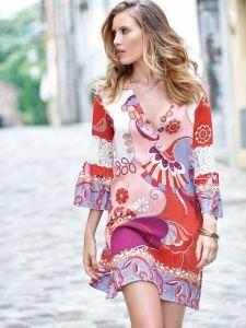 Viscose Tunika Beere Rot von Chiara Fiorini