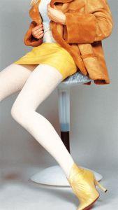 Gerippte Wolle-Strumpfhose Dora von Transparenze