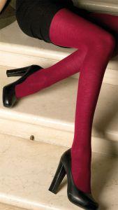 Merino-Wolle Feinstrumpfhose Jennifer rubin-rot von Trasparenze